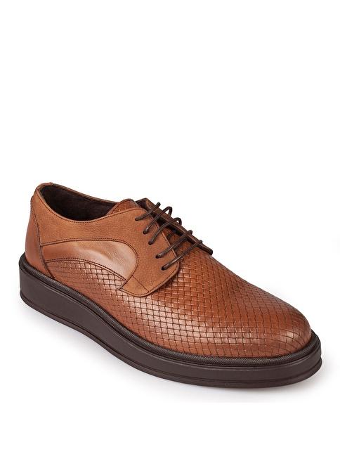 Matraş Bağcıklı Ayakkabı Kahve